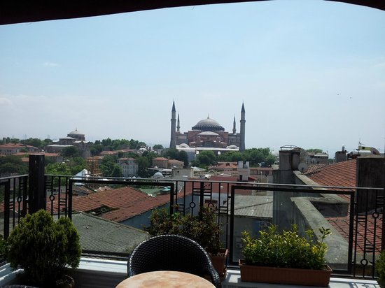 Agora Life Hotel : View from the roof, Hagia Sophia (Aya Sofya)