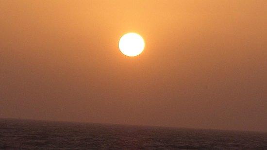 Kokila Dhiraj Dham: Sun set view