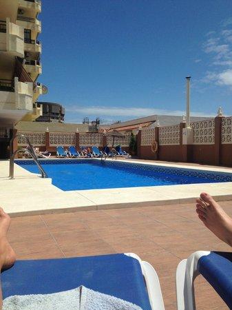 Las Rampas: Pool and Terrace area