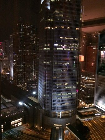 Four Seasons Hotel Hong Kong: city view from the room window