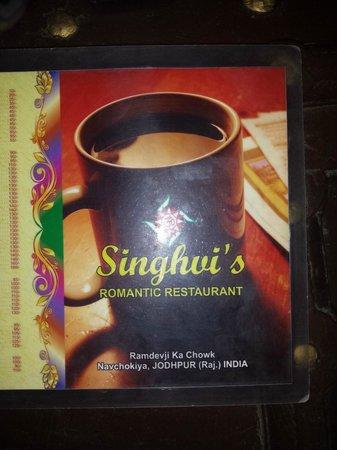 Singhvi's Haveli: menu in the veg restaurant