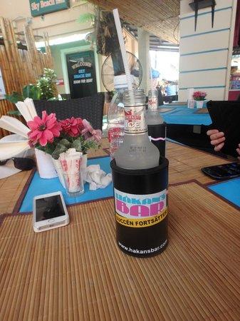 Hakan's Bar & Restaurant : Our table