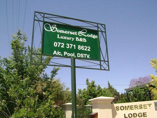 Somerset Lodge: Signage outside