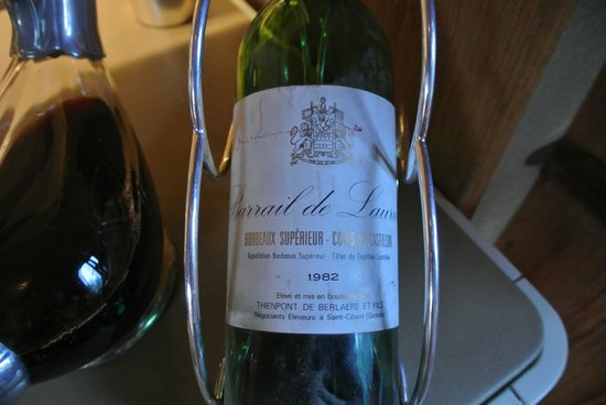 L'Auberge de l'Ill : wine from 1982!