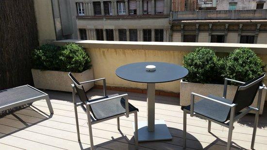 Catalonia Diagonal Centro: Terrece from Standard Double room