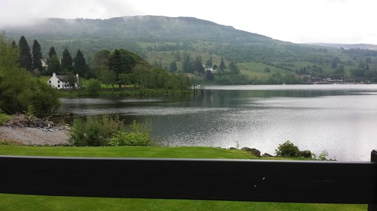 The Kenmore Club: View of the loch from the Waterfront bar terrace