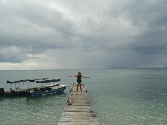 Popa Paradise Beach Resort: Mini puerto donde llegan las lanchas al resort