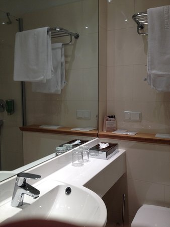 Das Capri. Ihr Wiener Hotel: Small but functional bathroom