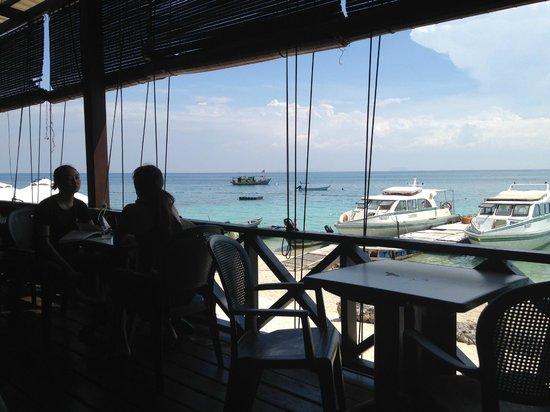 Perhentian Tuna Bay Island Resort: View from the restaurant verandah