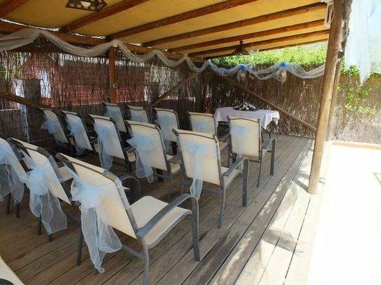 Casa Pino Solo : Ceremony under pergola