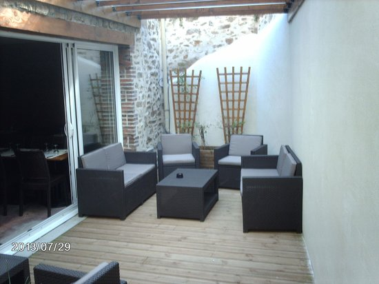 Au Deli'S Bar : Terrasse intérieure