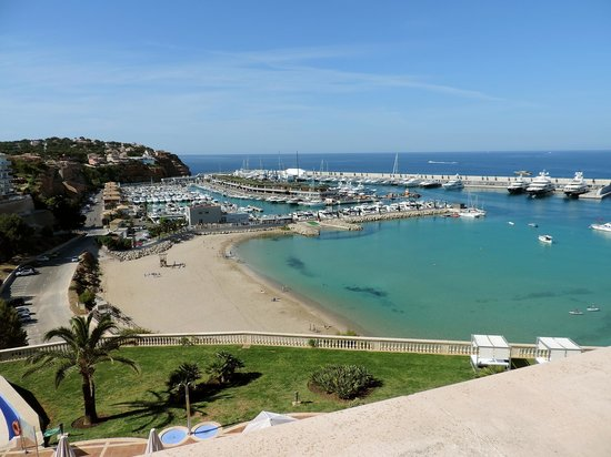 Port Adriano: The Beach and Port from above