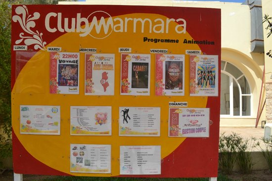 Club Marmara Zahra: programme animations