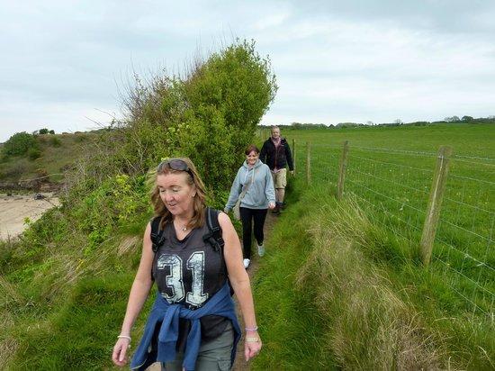 Traeth Lligwy: Coastal path from Moelfre to Lligwy beach.