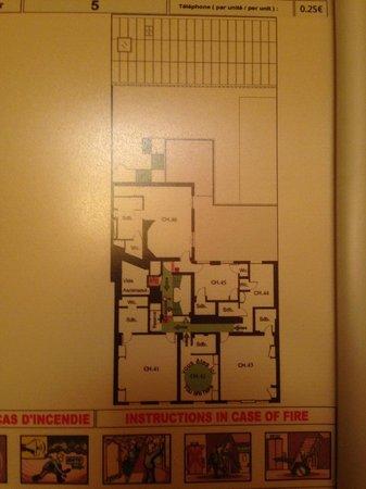 Hotel Concortel: Floor plan