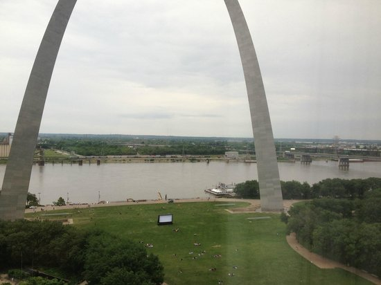 Hyatt Regency St. Louis at The Arch: Just one of our great views.