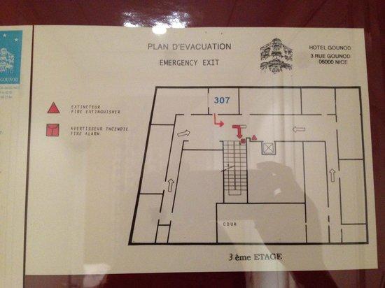Hotel Gounod Nice: Floor Plan