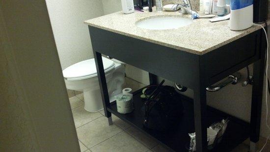 Hampton Inn Kerrville: sink for only one