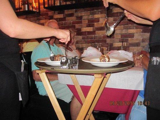 Donato's Pasta Plus Italian: Flaming Flambe
