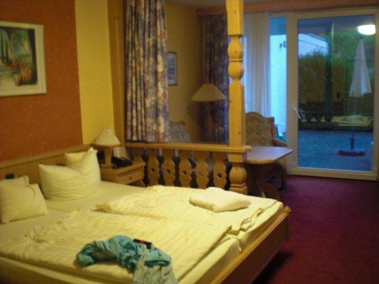 Hotel Pfalzblick : Zimmer mit Blick zur Terrasse/ Liegewiese