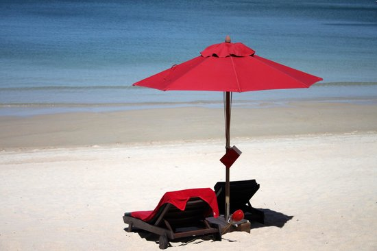Anantara Rasananda Koh Phangan Villas : Strandblick von Terrasse