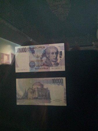Tempio Voltiano: immagine su banconota da 10.000 lire