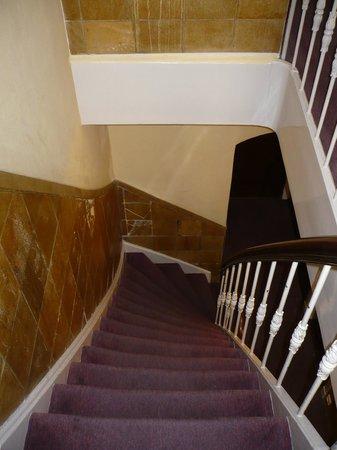 Hotel Hoksbergen: escalier typique menant aux chambres