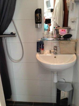 Hotel Hoksbergen: salle d'eau très fonctionnelle