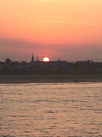 Flagler Beach Municipal Pier: Great sunset!