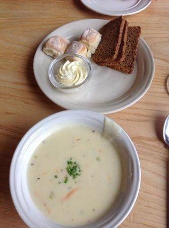Simon Pearce: cheddar soup