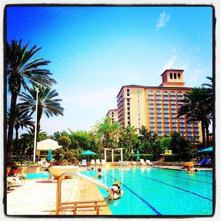 The Ritz-Carlton Orlando, Grande Lakes: Sitting by the Spa Pool at The Ritz-Carlton Grande Lakes