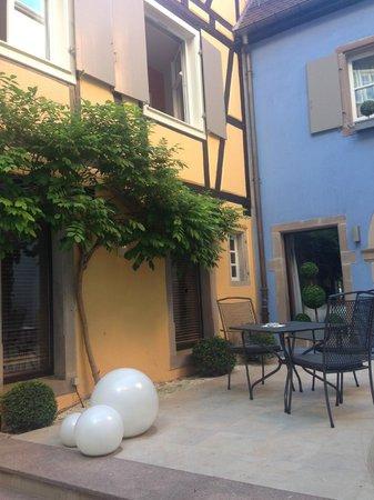 Hotel le Colombier : Innenhof