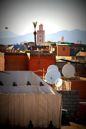 Un Déjeuner à Marrakech : view from the terrace