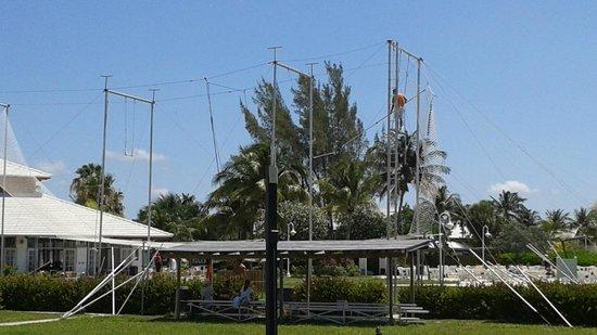 Viva Wyndham Fortuna Beach: Trapeze on site. Really Fun