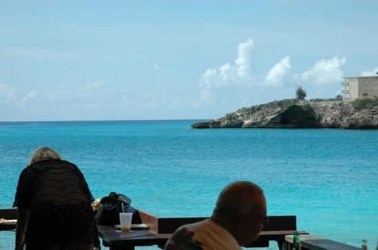 Simpson Bay from Sunset Beach Bar