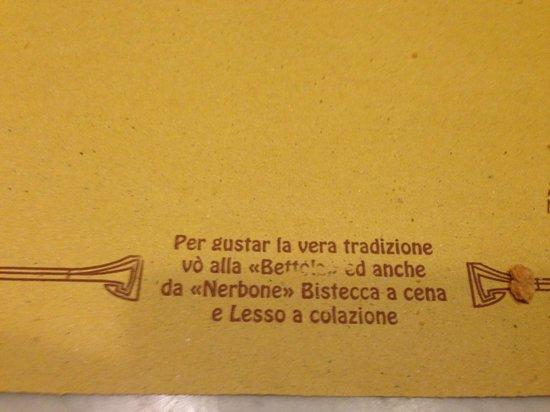 Alla Vecchia Bettola : Good Food