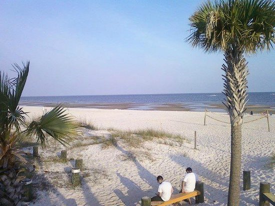 "Biloxi, MS: View of the beach taken from ""Shaggy's"" restaurant"
