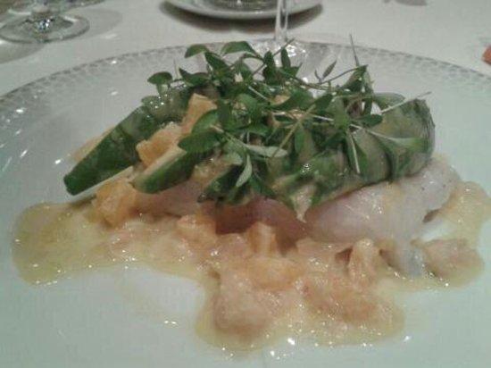 Le Parc Hotel Restaurant & Spa : Le poisson sauce aux agrumes