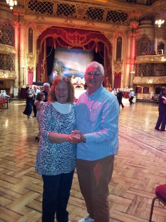 The Blackpool Tower Ballroom: Pretending we were competent enough to join in the dancing!