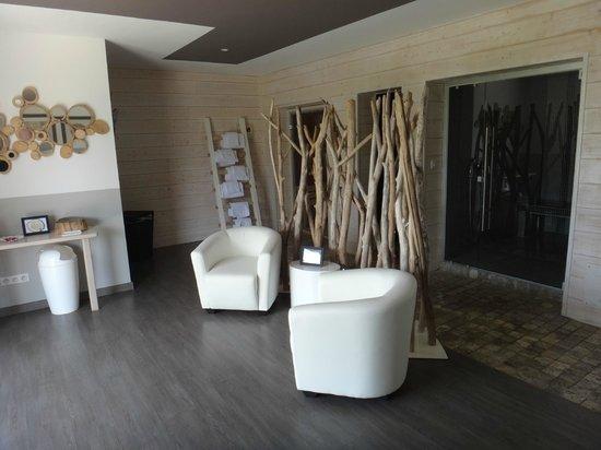 Hôtel A Piattatella : La spa : sauna, hammam, fauteuil de massage, thé...