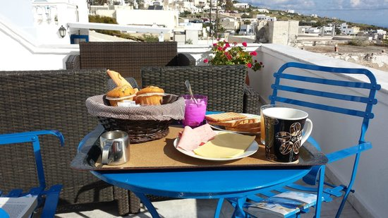 Afrodete Hotel : breakfast terrace