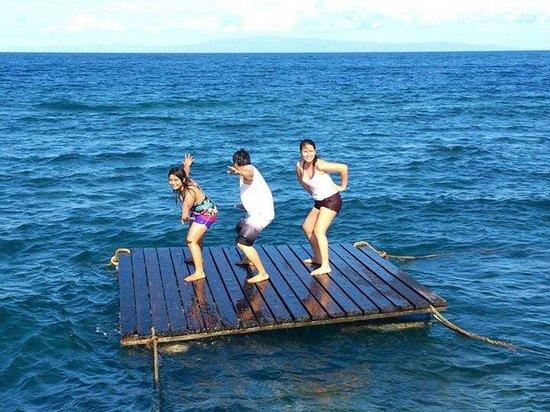 Dumaguete Springs Beach Resort: Into the raft