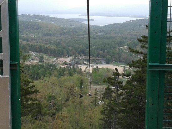 Gunstock Mountain Resort: more amazing views before we zip