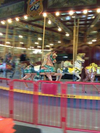 Lakeside Park Carousel: In motion