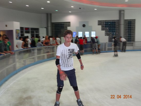 Ice Rink : Grandson on Ice