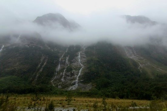 Milford Track : Day 1 - the mountains hid their peaks in the clouds