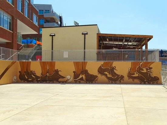 Durham Bulls Athletic Park: mural on wall