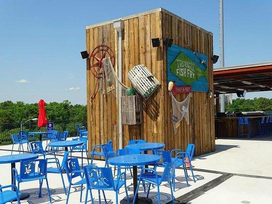 Durham Bulls Athletic Park : upper deck fish fry stand