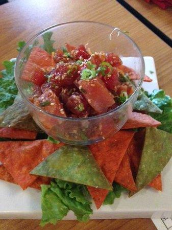 Kokoro Steaks Sushi & Martini Bar : tuna appetizer