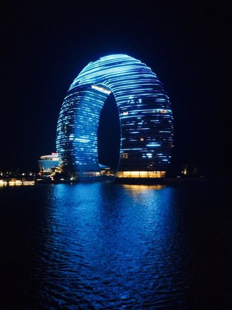 Sheraton Huzhou Hot Spring Resort : Night view!